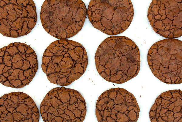 Chocolate Truffle Cookies with a Crackle Crust