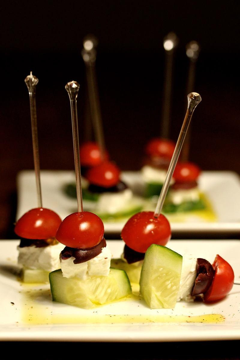 Greek Salad Skewers | Karen's Kitchen Stories