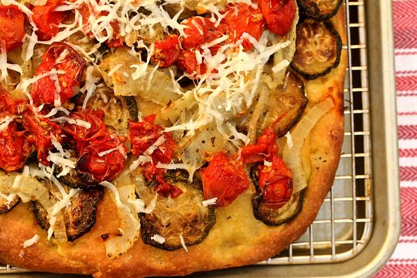 Roasted Vegetable Focaccia from Karen's Kitchen Stories