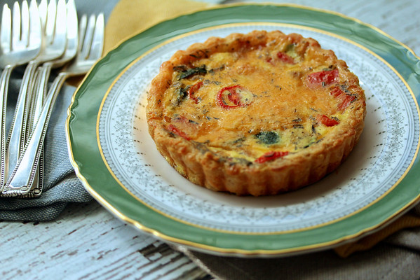Vegetable and Cheddar Tarts