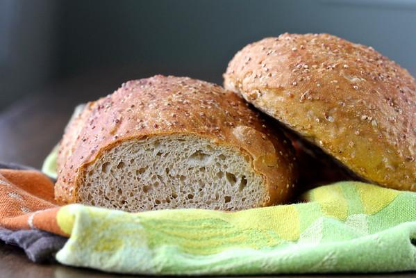 No Knead Quinoa Bread