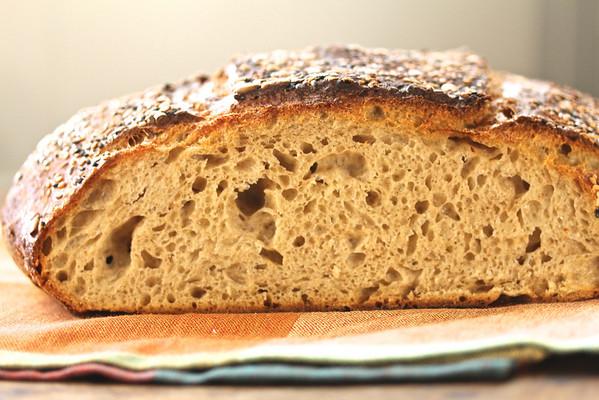 Spelt and Whole Wheat Sourdough Bread