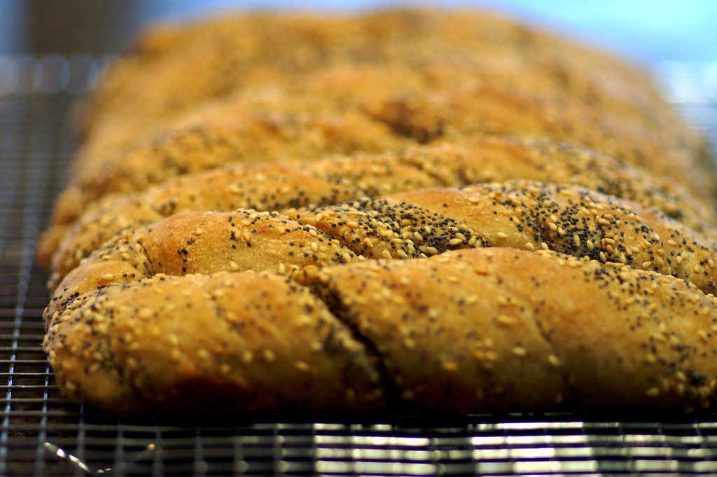 sourdough seeded bread twists