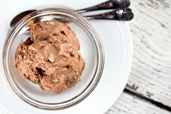 Chocolate Coconut Ice Cream with Macadamia Nuts