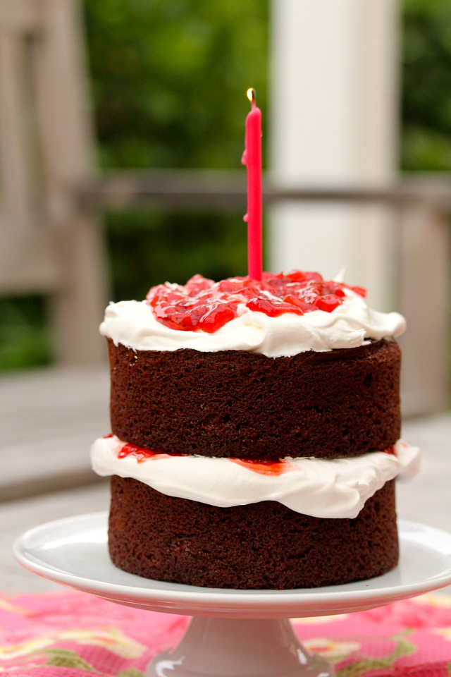 Strawberry Chocolate Anniversary Cake