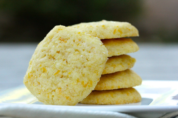 Meyer Lemon Vanilla Shortbread Cookies