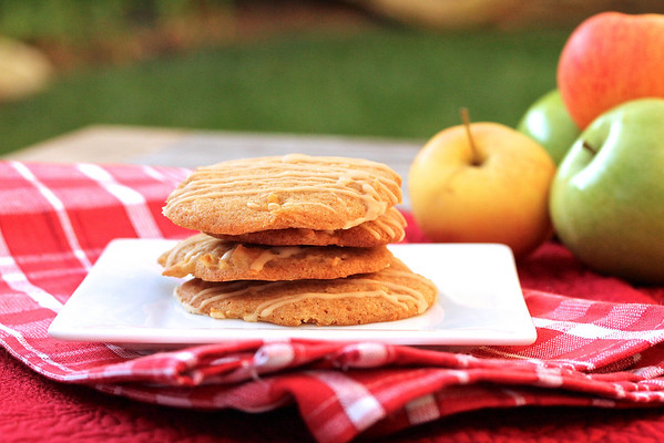 Iced Apple Drop Cookies