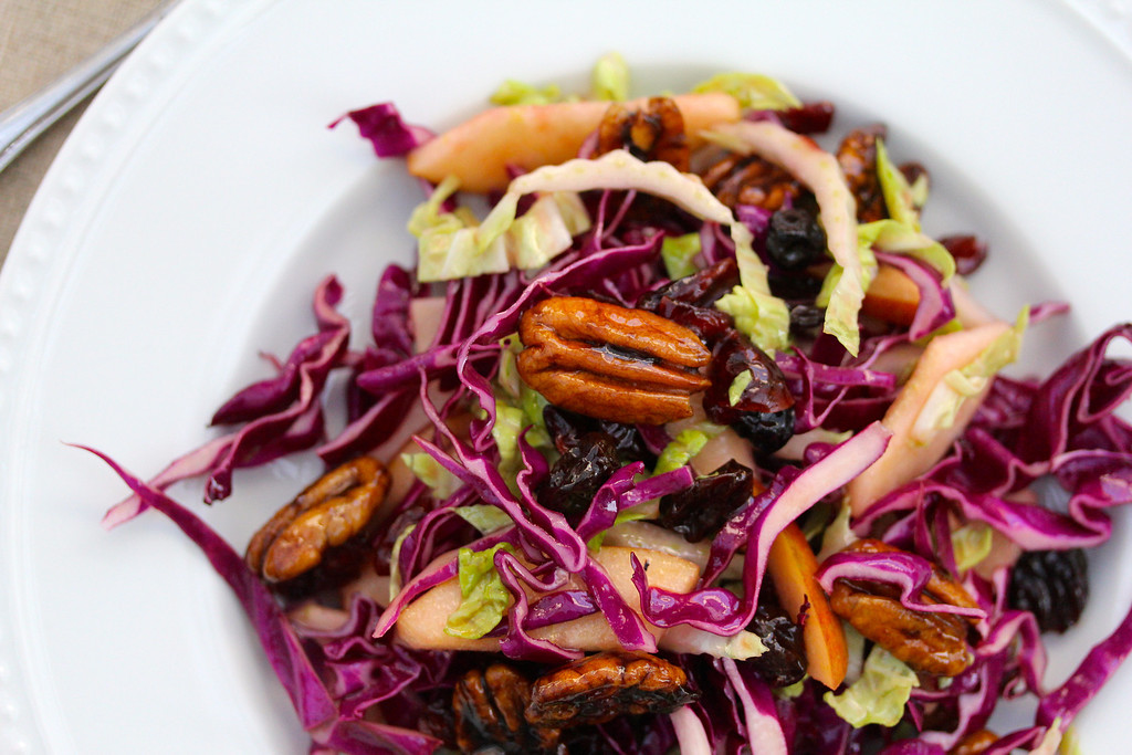 Cabbage Salad with Braeburn Apples &amp; Spiced Pecans