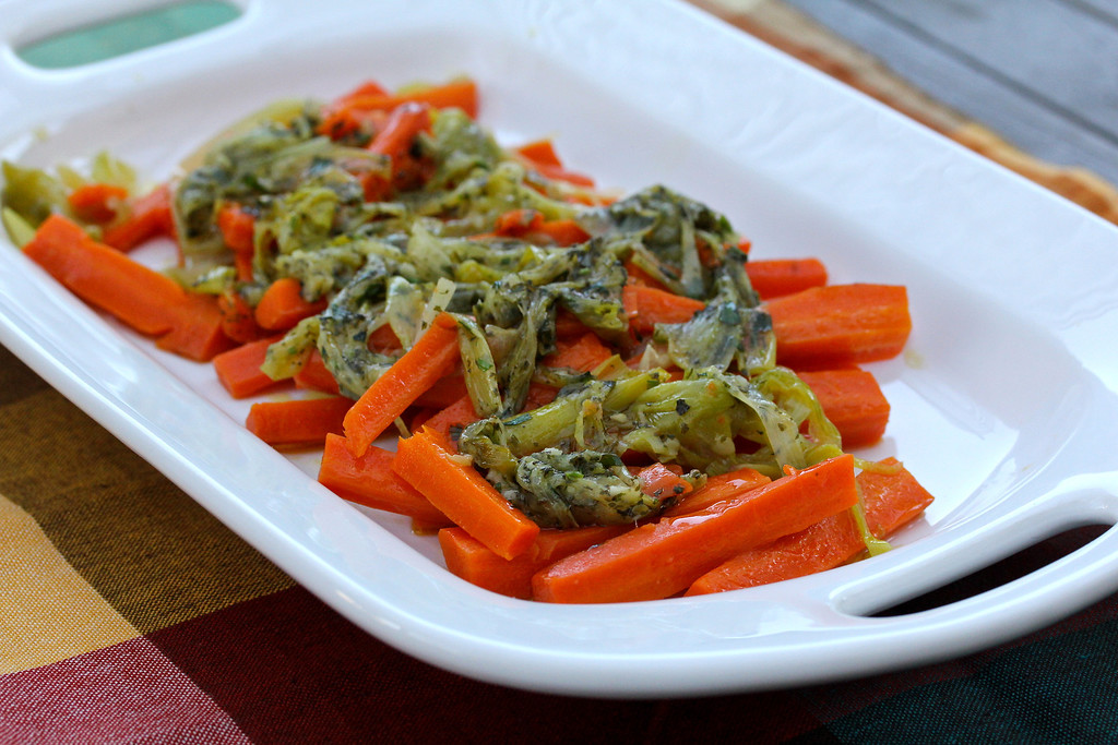 Braised Carrots with Leeks