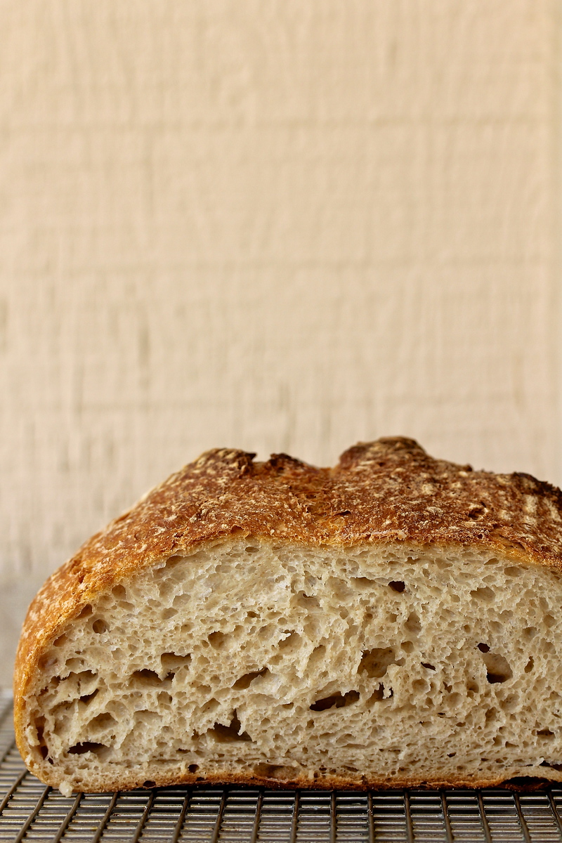 White, Rye, and Whole Wheat Sourdough Bread