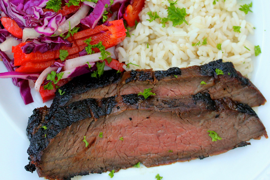 Korean Style Barbecued Flank Steak