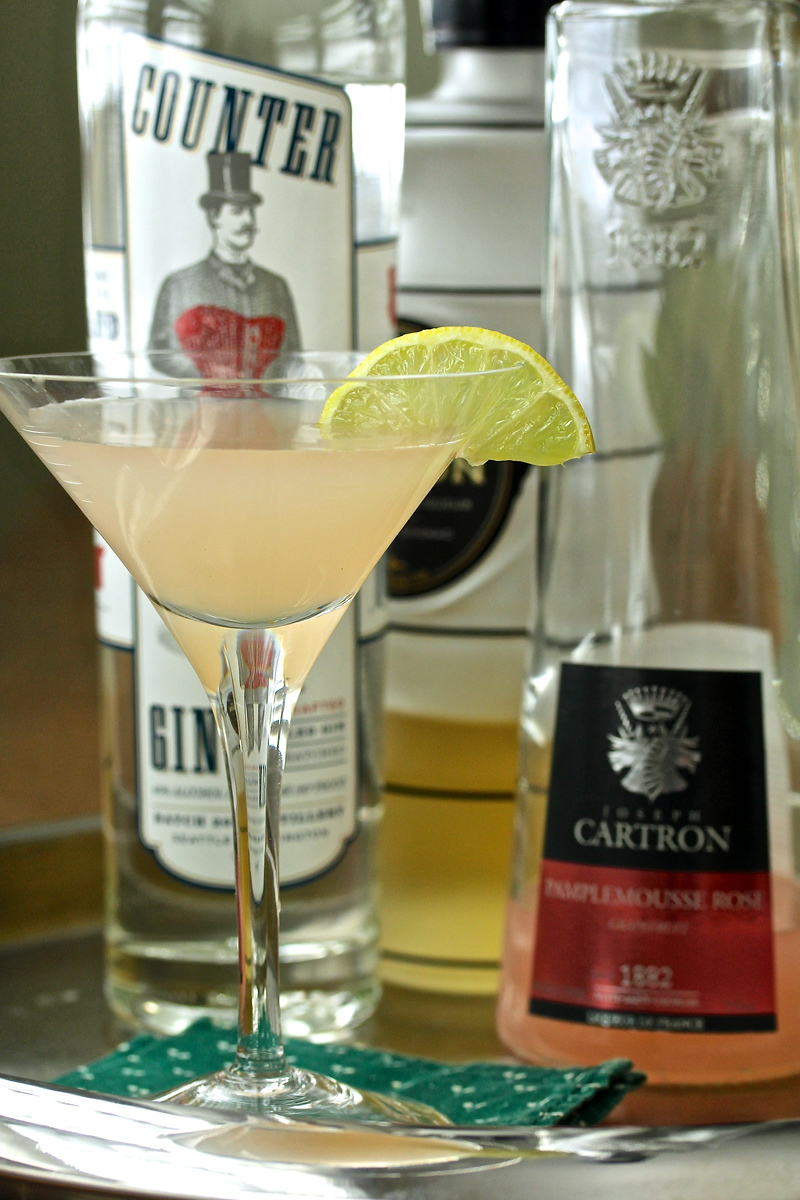 Pamplemousse Ginger Martini from Karen's Kitchen Stories