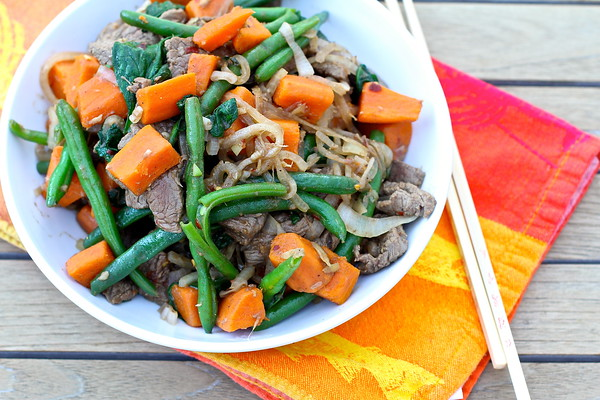 Beef and Sweet Potato Stir-Fry Karen's Kitchen Stories