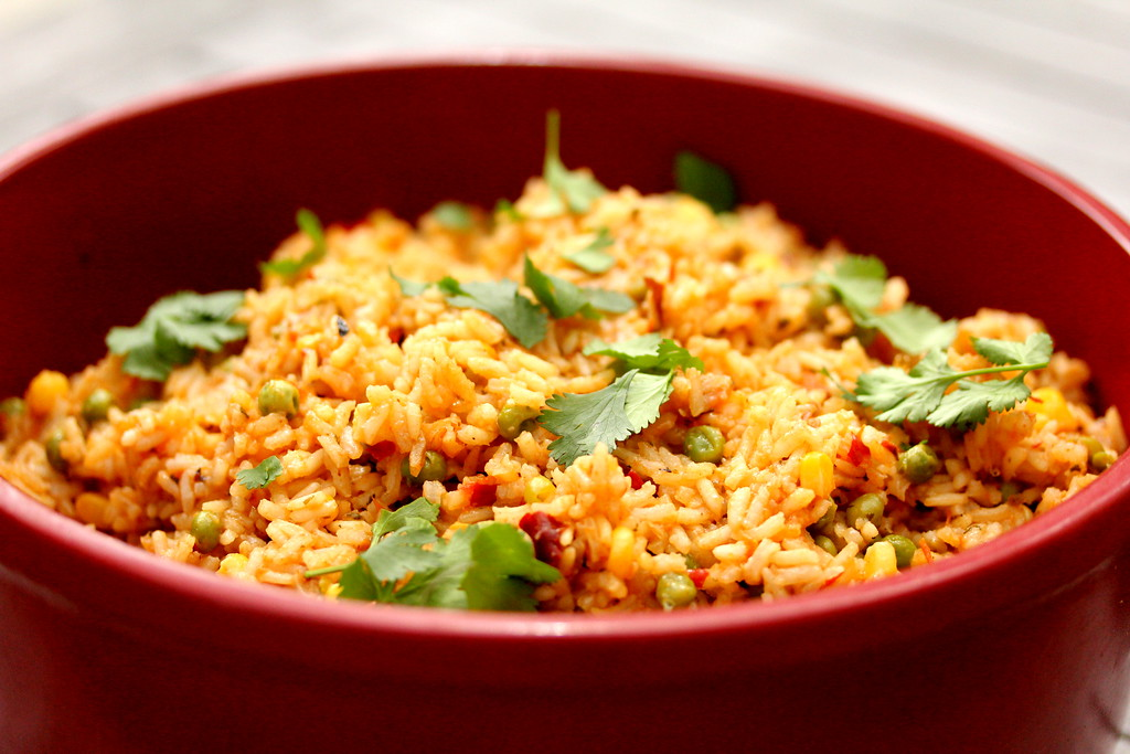 Mexican Red Rice | Arroz Rojo www.karenskitchenstories.com