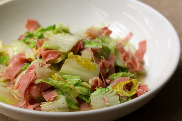 Stir-Fried Napa Cabbage with Prosciutto