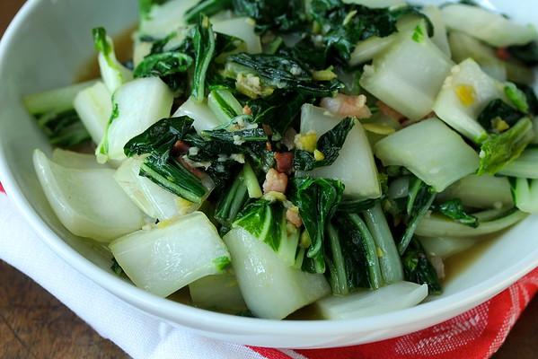 Stir-Fried Bok Choy with Pancetta | Wok Wednesdays
