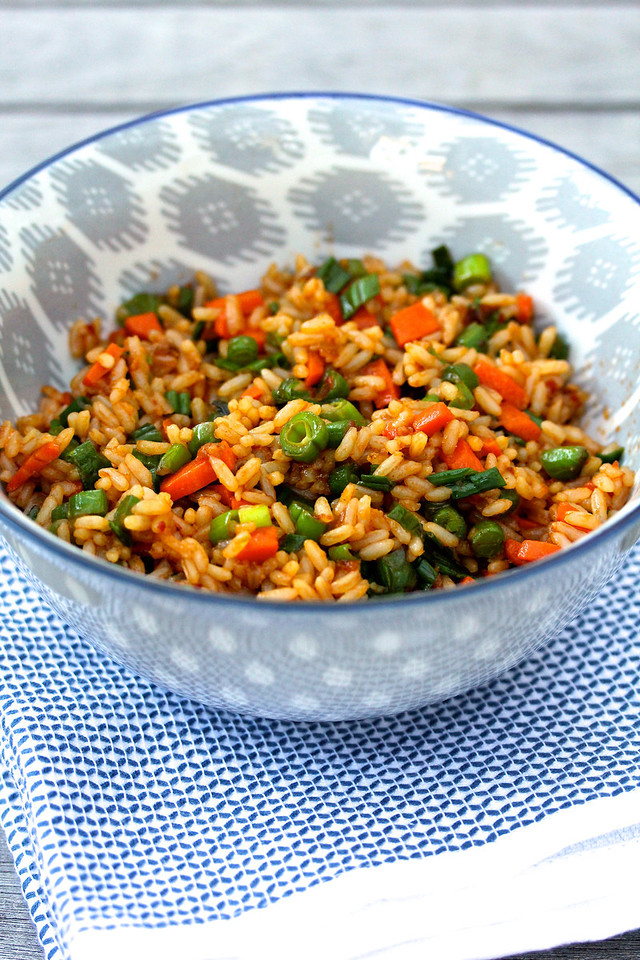 Chinese Indian Vegetarian Fried Rice