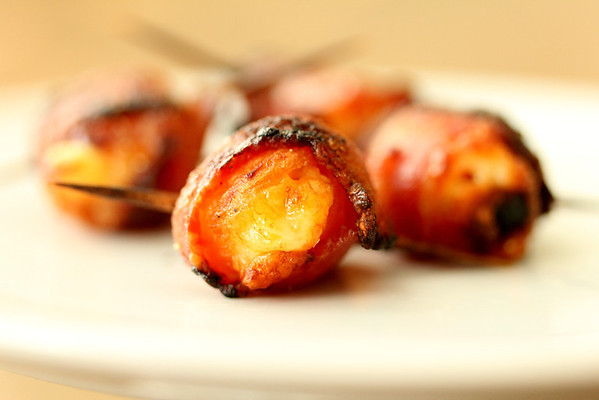 Bacon Wrapped Stuffed Apricots