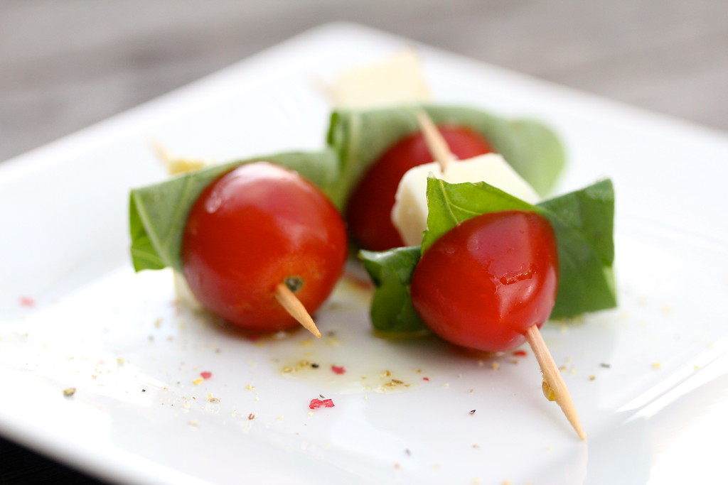 Mini Caprese Salad Skewers
