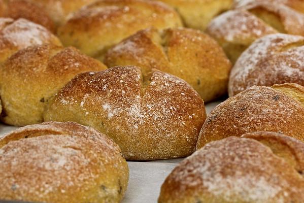Sourdough cornbread rolls with sage