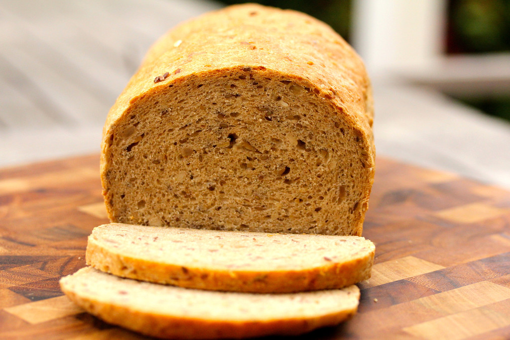 Multigrain Bread with Sunflower and Flax Seeds | Naked Bread