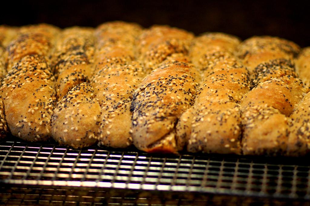 sourdough seeded bread twists
