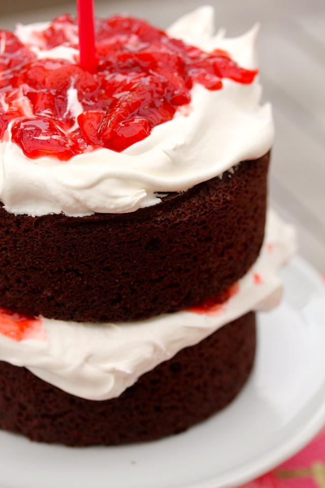 Strawberry Chocolate Anniversary Cake