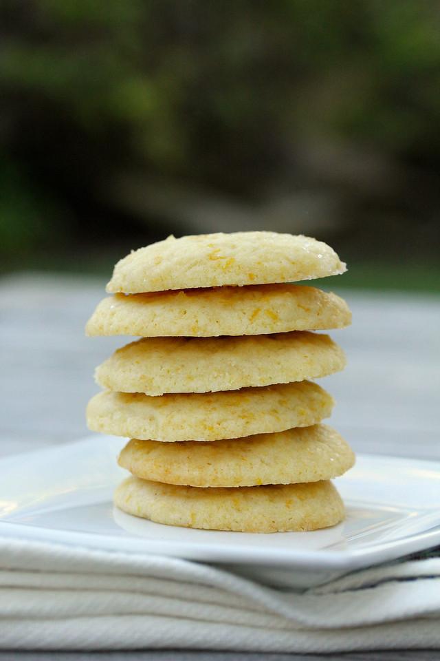 Meyer Lemon Vanilla Shortbread Cookies