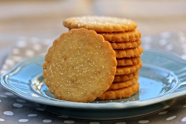 Buttery Ginger Shortbread Cookies  from Karen's Kitchen Stories