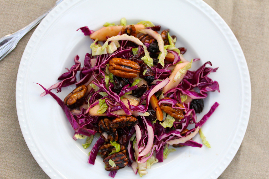 Cabbage Salad with Braeburn Apples & Spiced Pecans