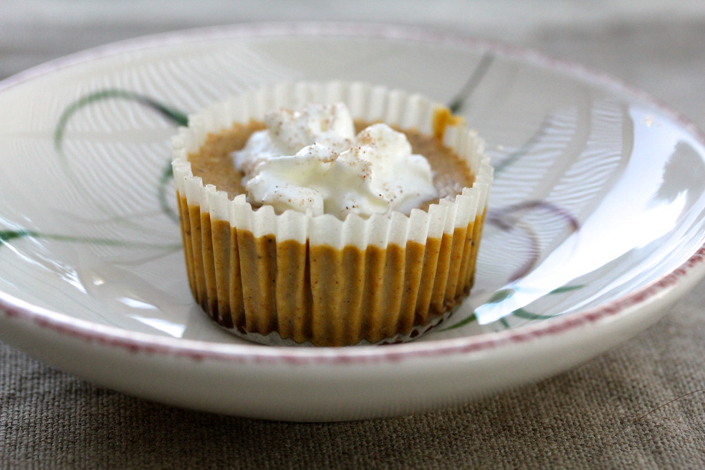 Mini Pumpkin Cheesecakes with a Gingersnap Crust