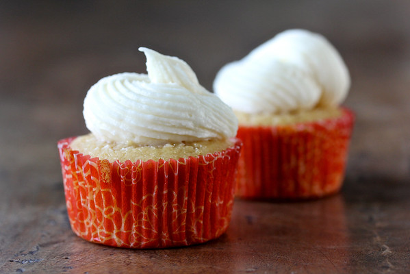 Maple Cupcakes with Maple Cream Cheese Frosting from Karen's Kitchen Stories