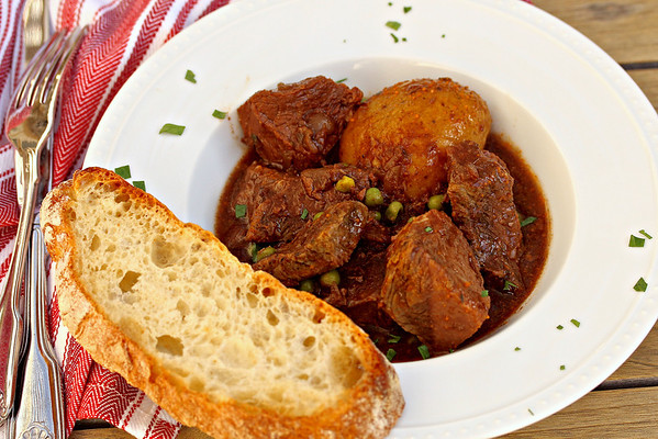 Slow Cooker Beef and Potato  Stew | Karen's Kitchen Stories