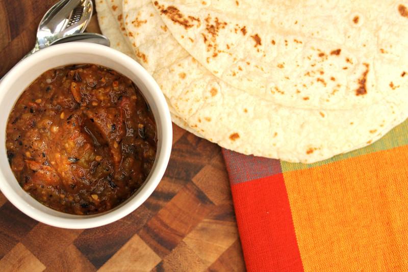 Roasted jalapeño salsa