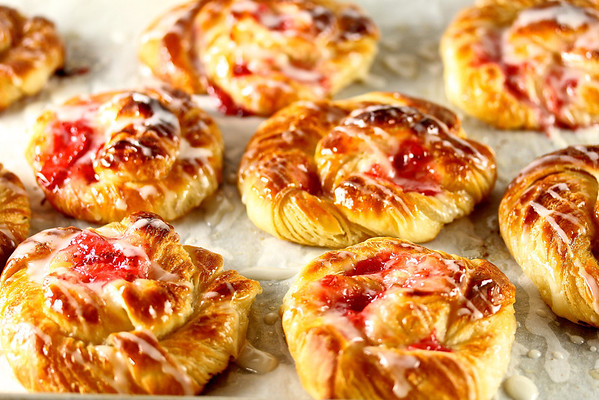 Strawberry Danish from Karen's Kitchen Stories
