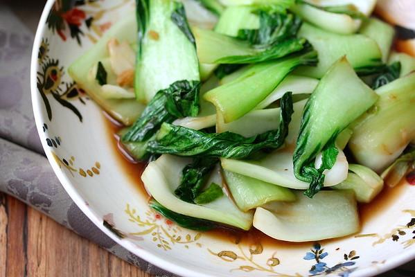 Stir-Fried Garlic Shanghai Bok Choy